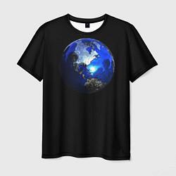 Футболка мужская Планета цвета 3D-принт — фото 1