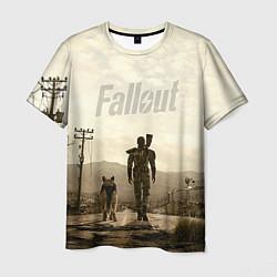 Футболка мужская Fallout City цвета 3D — фото 1