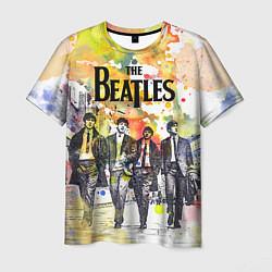 Футболка мужская The Beatles: Colour Spray цвета 3D — фото 1