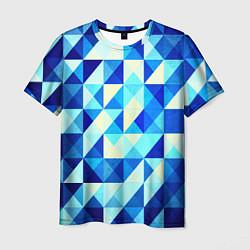 Мужская футболка Синяя геометрия