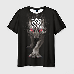 Футболка мужская Волк со Сварогом цвета 3D — фото 1