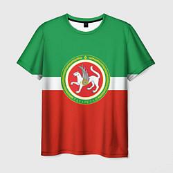 Футболка мужская Татарстан: флаг цвета 3D — фото 1