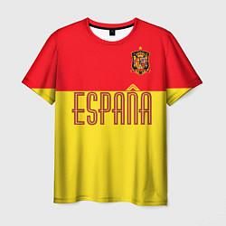 Футболка мужская Сборная Испании: Евро 2016 цвета 3D-принт — фото 1