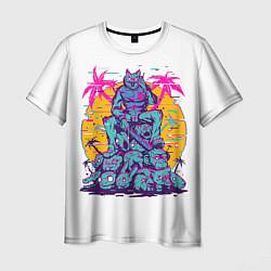 Футболка мужская Hotline Miami: Throne цвета 3D — фото 1