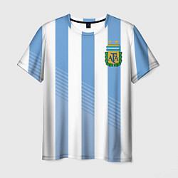 Футболка мужская Сборная Аргентины: ЧМ-2018 цвета 3D-принт — фото 1