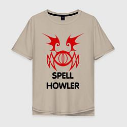 Мужская футболка оверсайз Dark Elf Mage - Spell Howler