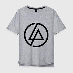 Мужская футболка оверсайз Linkin Park: Sybmol