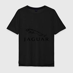 Футболка оверсайз мужская Jaguar цвета черный — фото 1