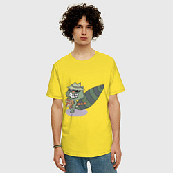Футболка оверсайз мужская HTF: Lifty цвета желтый — фото 2