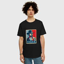 Футболка оверсайз мужская Chuck Poster цвета черный — фото 2