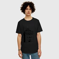 Мужская удлиненная футболка с принтом Нижний Новгород, цвет: черный, артикул: 10128861205753 — фото 2