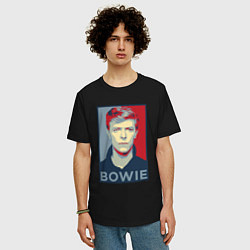 Футболка оверсайз мужская Bowie Poster цвета черный — фото 2