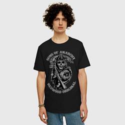Футболка оверсайз мужская Sons of Anarchy: Redwood Original цвета черный — фото 2