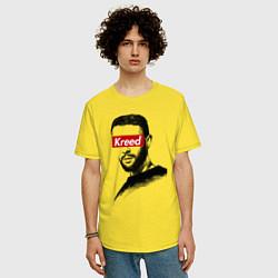Футболка оверсайз мужская Kreed Supreme цвета желтый — фото 2