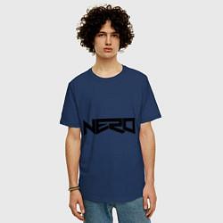Футболка оверсайз мужская Nero цвета тёмно-синий — фото 2