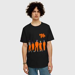 Футболка оверсайз мужская Misfits Orange цвета черный — фото 2