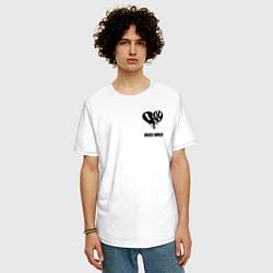 Футболка оверсайз мужская JUICE WRLD цвета белый — фото 2