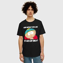 Футболка оверсайз мужская ЮЖНЫЙ ПАРК цвета черный — фото 2