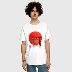 Футболка оверсайз мужская Япония цвета белый — фото 2