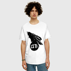 Футболка оверсайз мужская DM Raven цвета белый — фото 2