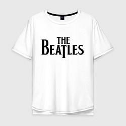 Футболка оверсайз мужская The Beatles цвета белый — фото 1