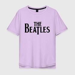 Футболка оверсайз мужская The Beatles цвета лаванда — фото 1