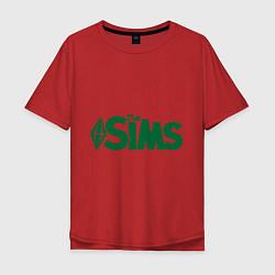 Футболка оверсайз мужская Sims цвета красный — фото 1
