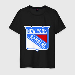 Футболка хлопковая мужская New York Rangers цвета черный — фото 1