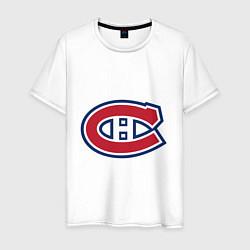 Футболка хлопковая мужская Montreal Canadiens цвета белый — фото 1