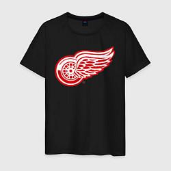 Футболка хлопковая мужская Detroit Red Wings цвета черный — фото 1