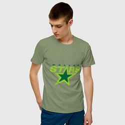 Футболка хлопковая мужская Dallas Stars цвета авокадо — фото 2
