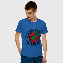 Футболка хлопковая мужская Planet Express цвета синий — фото 2