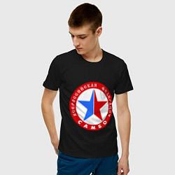 Футболка хлопковая мужская Федерация САМБО цвета черный — фото 2