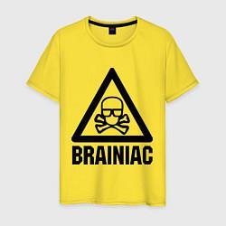 Футболка хлопковая мужская Brainiac цвета желтый — фото 1