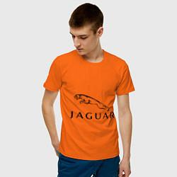 Футболка хлопковая мужская Jaguar цвета оранжевый — фото 2