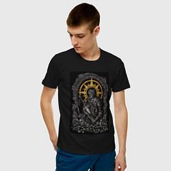 Футболка хлопковая мужская Dark Souls: Warrior цвета черный — фото 2