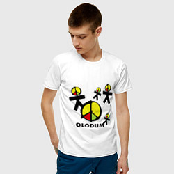 Футболка хлопковая мужская Olodum цвета белый — фото 2