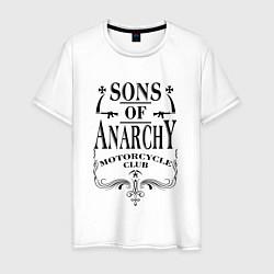Футболка хлопковая мужская Anarchy Motorcycle Club цвета белый — фото 1