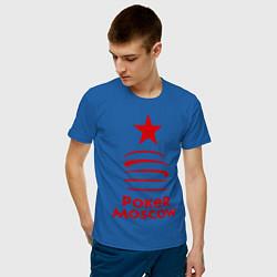 Футболка хлопковая мужская Poker Moscow цвета синий — фото 2