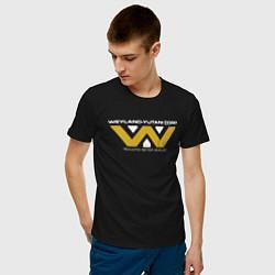 Футболка хлопковая мужская Weyland-Yutani цвета черный — фото 2