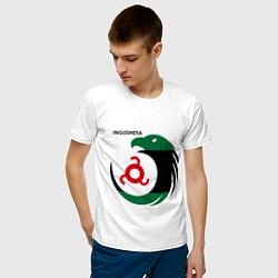 Футболка хлопковая мужская Ingushetia Eagle цвета белый — фото 2