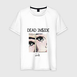 Футболка хлопковая мужская Dead Inside цвета белый — фото 1