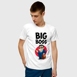 Футболка хлопковая мужская Big Boss / Начальник цвета белый — фото 2