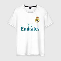 Футболка хлопковая мужская Real Madrid: Ronaldo 07 цвета белый — фото 1