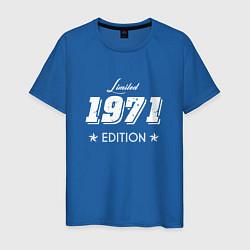 Футболка хлопковая мужская Limited Edition 1971 цвета синий — фото 1