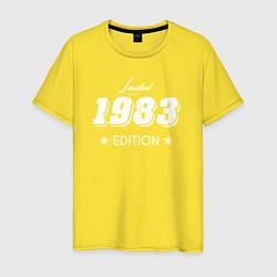 Футболка хлопковая мужская Limited Edition 1983 цвета желтый — фото 1