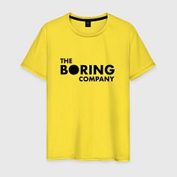 Футболка хлопковая мужская The boring company цвета желтый — фото 1