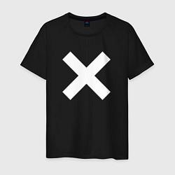 Футболка хлопковая мужская The XX: White X цвета черный — фото 1