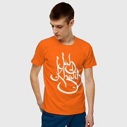 Футболка хлопковая мужская Jah Khalib цвета оранжевый — фото 2
