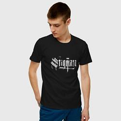 Мужская хлопковая футболка с принтом Stigmata, цвет: черный, артикул: 10141297900001 — фото 2